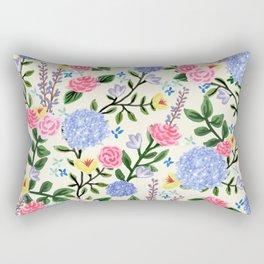French Country Garden Print Rectangular Pillow