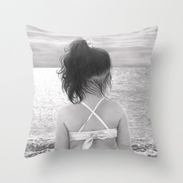 Facing Immensity Throw Pillow