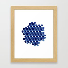 Hexagons Framed Art Print