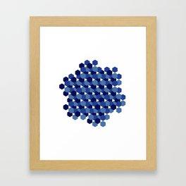 Hexagons Framed Art Print
