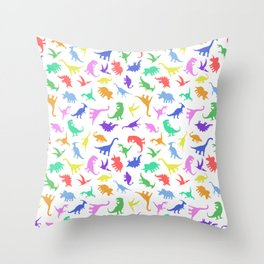Fun Dinosaur Pattern Throw Pillow