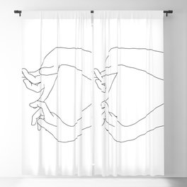 Hands line drawing - Robin Blackout Curtain