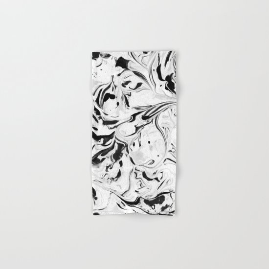 Black and White Marble Hand & Bath Towel