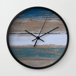 Beach House Decor Five Stripes Wall Clock