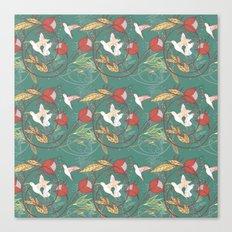 hummingbirds pattern Canvas Print