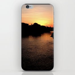 Sunset over the Ponte Vecchio iPhone Skin
