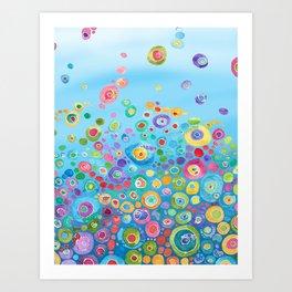 Inner Circle - Blue Art Print