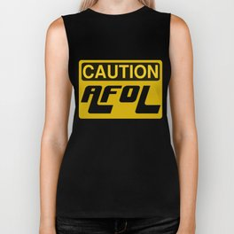 CAUTION AFOL ADULT FAN OF LEGO by Chillee Wilson [from Customize My Minifig] Biker Tank