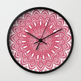 Red Wine Color Mandala Minimal Minimalistic Simple (Yet Bold) Wall Clock