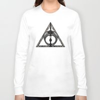 deathly hallows Long Sleeve T-shirts featuring Master of Death by Talesanura