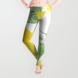 Lemons and Flowers Leggings