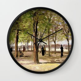 Lane at the Jardin du Luxembourg Garden by Vincent van Gogh Wall Clock