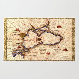 Map Of The Black Sea 1559b Rug
