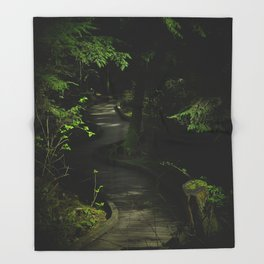 Path of Shadows Throw Blanket