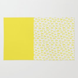 Triangles yellow Rug