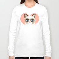 grumpy Long Sleeve T-shirts featuring Grumpy by StudioMarimo