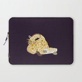 Giraffe sleeping on its own bottom Laptop Sleeve