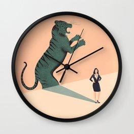 Business Woman Wall Clock