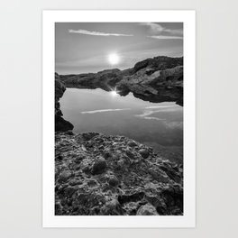 Twinkling Reflection in Black and White Art Print