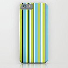 Fun Stripes blue green Slim Case iPhone 6s