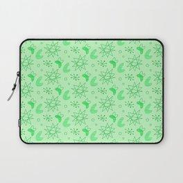 Neon Lime Green Midcentury Laptop Sleeve