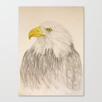 eagle Canvas Prints featuring Eagle by Lyubov Fonareva