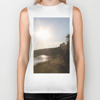 camping Biker Tanks featuring Camping by RMK Photography