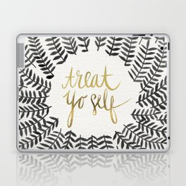 Treat Yo Self – Black & Gold Laptop & iPad Skin