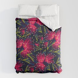 New Zealand Rata floral print (Night) Comforters