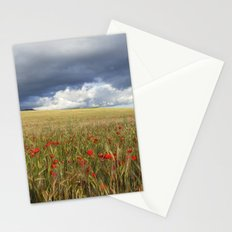 Poppies under the clouds Stationery Cards