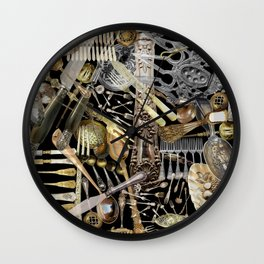 Antique Cutlery Wall Clock