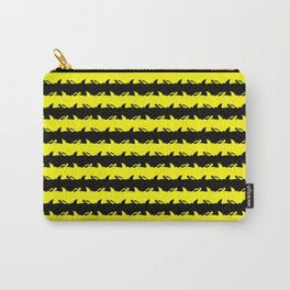 Bondi Beach Yellow and Black Shark Attack Beach Stripe Carry-All Pouch