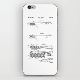 patent art Brown Toothbrush 1939 iPhone Skin