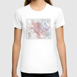 Vintage Map of Kiev Ukraine (1918) T-shirt