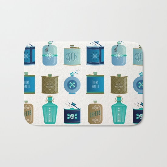 Flask Collection – Blue and Tan Palette Bath Mat
