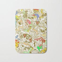 Kamasutra LOVE - Retro Yellow Bath Mat