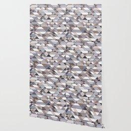 Triangle Pattern no.22 grays Wallpaper