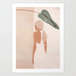 Abstract Woman in a Dress Art Print