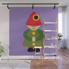 Gnome on Purple Wall Mural