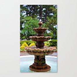 College Fountain Canvas Print