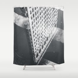 Flat Iron Building - NYC Reflection Shower Curtain