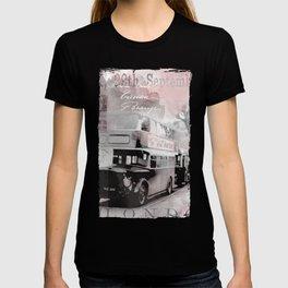 Vintage England London Britain Illustration Pastel Colors T-shirt