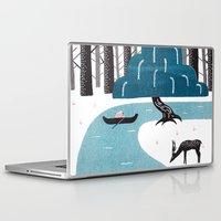 river Laptop & iPad Skins featuring River by James White