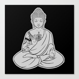 Sitting Buddha is blessing on blissful meditation Canvas Print
