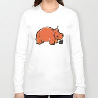 hippo Long Sleeve T-shirts featuring Hippo by ILINDESIGNS