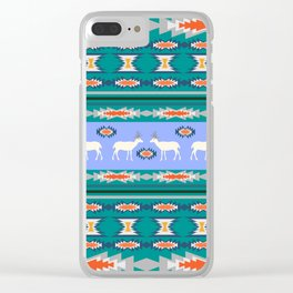 Decorative Christmas pattern with deer II Clear iPhone Case