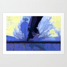 Nose Dive - Stunt Scooter Champ Art Print
