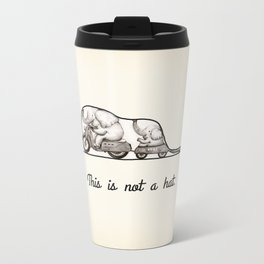 This is not a hat Metal Travel Mug