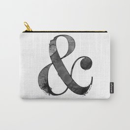 Ampersand - Black Watercolor Carry-All Pouch