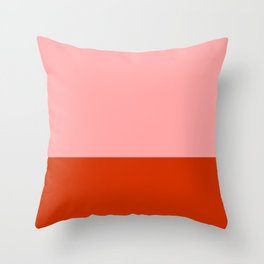 Peppermint Color Block Throw Pillow